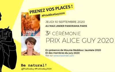 Prenez vos places pour la soirée du Prix Alice Guy 2020 !