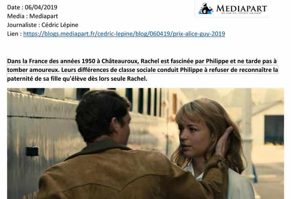 La presse parle du Prix Alice Guy - prixaliceguy.com